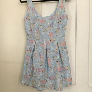 New Iron-fist Ocean Blue Pattern Dress